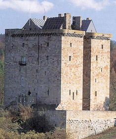 Borthwick Castle, Scotland: Largest and best preserved surviving Medieval Scottish fortifications. 12 miles east of Edinburgh, remains in the Borthwick family ancestral seat, visited twice by Mary Qn of Scots, and attacked by Oliver Cromwell's forces in 1650.