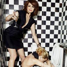 Tina Fey & Amy Poehler. Adore them and Theirfriendship