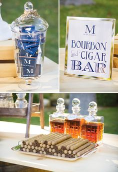 Guy's Party Idea: Bourbon and Cigar Bar Party
