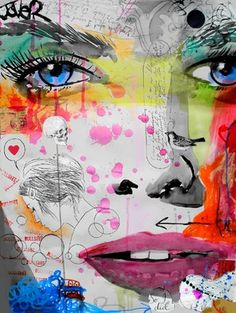 "Saatchi Online Artist Loui Jover; Mixed Media, ""so i did"" #art"