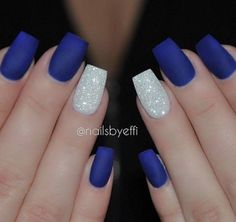 Royal Blue Nails With Silver Accents;blue manicure;blue nail designs;Blue . Royal Blue Nails With Silver Accents;blue manicure;blue nail designs;Blue Gel;Nail Polish;blue nail art;rhinestone nails; Prom Nails, Fun Nails, Sparkly Nails, Homecoming Nails, Graduation Nails, Vegas Nails, Homecoming Queen, Gorgeous Nails, Pretty Nails