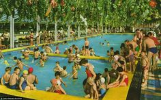 This shot was taken at the busy indoor heated pool in Butlin's Ayr in Scotland, which has since been reopened under new management