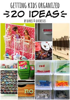 20 ideas for getting kids organized