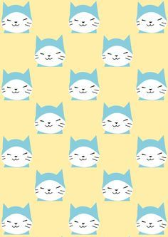 FREE printable cat pattern paper | #kawaii