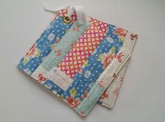 Novice Beginnings - Scrap Potholders with NO Binding!!