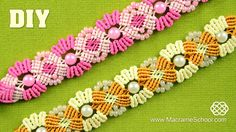 Blooming Macramé Bracelet with Beads