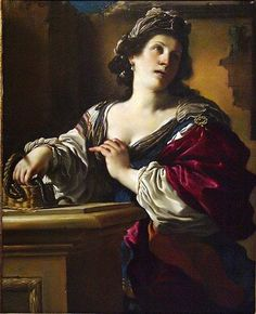 Suicide of Cleopatra, c. 1621 Giovanni Francesco Barbieri called Guercino Italian, Oil on canvas 46 x in. x cm) The Norton Simon Foundation Baroque Painting, Baroque Art, Cleopatra, Norton Simon, Artemisia Gentileschi, Asian Sculptures, Aesthetic Objects, Italian Baroque, European Paintings