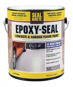 Low VOC Armor Gray Concrete and Garage Floor Paint - Products - Seal-Krete Epoxy Seal 1 gal. Low VOC Armor Gray Concrete and Garage Floor Paint - Painted Concrete Floors, Concrete Bricks, Seal Concrete Floor, Water Based Concrete Stain, Concrete Resurfacing, Concrete Coatings, Porch Flooring, Basement Flooring, Flooring Ideas