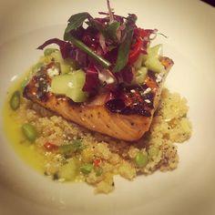 yummy salmon and edemame quinoa!