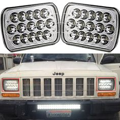 """(56.60$)  Know more - http://ai1se.worlditems.win/all/product.php?id=32788338811 - """"Pair 7x6""""""""inch LED Headlights 27450C Of Rectangular 5X7 For Ford Van Jeep XJ YJ H4 High Low Beam Headlight 5 x 7"""""""" Led"""""""