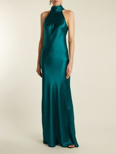 Designer Clothes, Shoes & Bags for Women Satin Gown, Satin Dresses, Silk Satin, Sexy Dresses, Bridal Dresses, Long Dresses, Green Satin Dress, Silky Dress, Lace Dress
