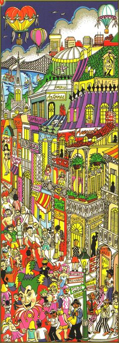 Charles Fazzino Limited Edition 3-Dimensional Serigraph Return, Rebuild, ReNew Orleans