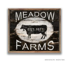 Handmade wooden cow sign framed out in wood. Art is applied to wood then sealed with a waterbased polyurethane for protection. Frame color may