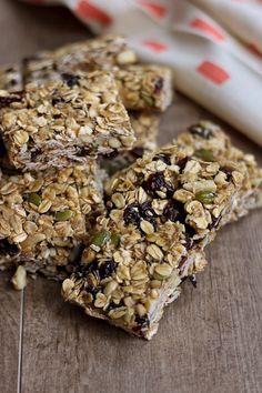 Oat & Pumpkin Seed Granola Bars