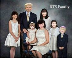 Actually can't stop laughing at this XD #bts.. Why does little Suga look so normal????