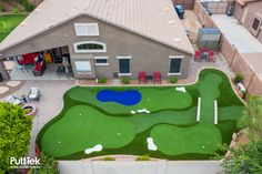 Large Backyard Landscaping, Pool Backyard, Patio, Golf Putting Green, Golf Green, Outdoor Projects, Diy Projects, Backyard Sports, Miniature Golf
