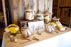 A sweet cookie bar set-up at @Sundance Resort #wedding #desserts #dessertbar #UtahWedding