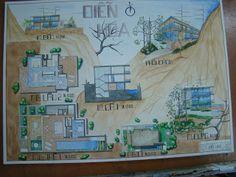 Landscape Architecture Portfolio, Architecture Plan, Interior Design Presentation, House Plans, How To Plan, Drawings, Painting, Anime, Texture