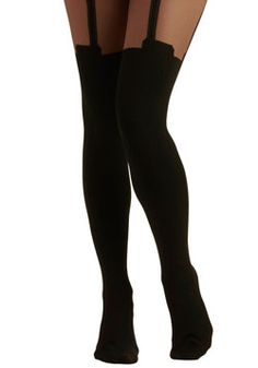 I love these tights! They're sassy and trendy, but yet not something everyone would wear, perfect right?33.99 #ModCloth