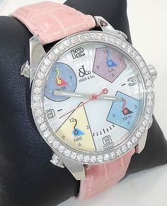 JACOB & Co FIVE TIME ZONE MOP DIAL FACTORY 2.0 CT DIAMOND BEZEL BOX & PAPERS