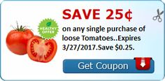 Save $0.25 when you buy tomatoes this week