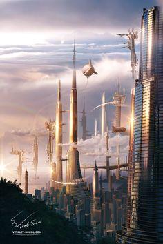 Futuristic City by Vitaly-Sokol.deviantart.com on @DeviantArt