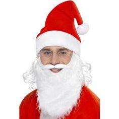 e53ffcf89130c9 Kit Père Noël - Accessoire déguisement Barbe, Lunettes, Chapeau, Accessoire  Deguisement, Perruque