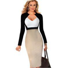Trouver plus robes informations sur vente chaude 2015 femmes automne robe mod - Bureau de travail pas cher ...