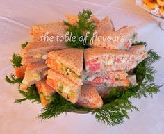 The Table of Flavours: Salmon Sandwiches