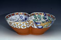 Liz Quackenbush Double Bowl Clay Cup, Clay Studio, Glass Repair, Old Love, Contemporary Ceramics, Plates And Bowls, Decorating On A Budget, Ceramic Pottery, Serving Bowls