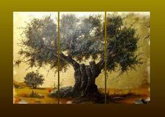 olive tree 3 panels