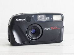 Canon Prima Twin Date - GREAT CONDITION functional vintage 35 mm film analog camera, compact point&shoot New Sure Shot, Autoboy + Handstrap!