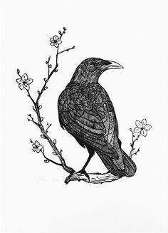 Woodcut Prints by Graham Blair - This would make a beautiful tattoo