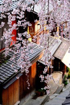 Japan - Sakura Along Sannenzaka, Higashiyama, Kyoto Kyoto, Go To Japan, Visit Japan, Japan Japan, Okinawa Japan, Japanese Landscape, Japanese Architecture, Japanese Culture, Japanese Art