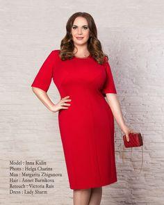 #Ретушь #фото для интернет-магазина #одежды #больших #размеров Lady Sharm http://vk.com/ladysharmclassic Model : Inna Kulin Photo : @helgachar  Mua : Margarita Zhigunova Hair : Annet Barnikova Retoucher : @Victoria_Rais Dress : Lady Sharm http://www.ledisharm.com #ретушер #retoucher #retouch #retouching #dress #red