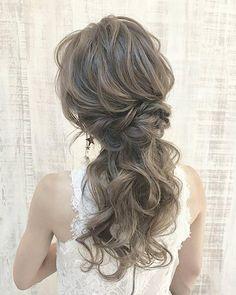 Kawaii Hairstyles, Hair Arrange, Hair Setting, Bridal Style, Ponytail, Bridal Hair, Wedding Colors, Wedding Hairstyles, Hair Makeup