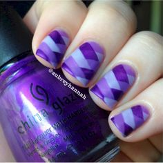 1. This fishtail mani looks like just the kind of finely woven threads that makes purple so popular.