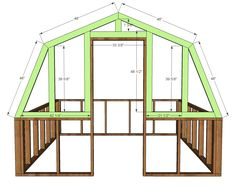 Ana White Build a Barn Greenhouse DIY Project and Furniture Plans Diy Greenhouse Plans, Backyard Greenhouse, Chickens Backyard, Greenhouse Wedding, Cheap Greenhouse, Pergola Plans, Building A Chicken Coop, Building A Shed, Building Plans