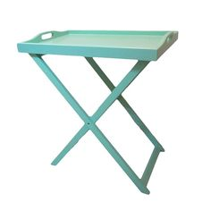 WOODEN FOLDING TRAY TABLE IN MINT COLOR 58X38X66 - Coffee Tables - FURNITURE