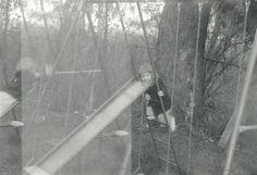 Double Exposure Vintage Photo - Backyard Swing Set - Playground Equipment - Slide - Vintage Snapshot - Original Found Photo by SunshineVintagePhoto on Etsy https://www.etsy.com/listing/400982747/double-exposure-vintage-photo-backyard