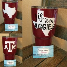 Now that's a Yeti I'd spend money on. College Fun, College Station, College Life, Dipped Yeti Cups, Texas State University, Painted Cups, Glitter Cups, Texas A&m, Silent Auction