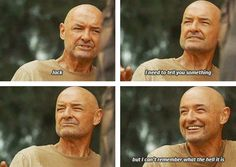Terry O'Quinn (Locke) forgets his line