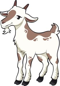 goat cartoon running royalty free cliparts vectors and stock rh pinterest com goat clip art silhouette clipart black and white goat
