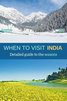Best time to visit India - Guide to Indian seasons - Mytriphack Travel Guides, Travel Tips, Travel Destinations, Travel Plan, India Travel Guide, Asia Travel, Travel Nepal, Autumn In India, Weather In India