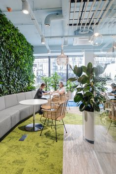 workplace solutions recently completed the offices for Nordea IT located in Gdynia, Poland. Biophilic trend is effectively changing offices to Office Space Design, Workplace Design, Office Interior Design, Lounge Design, Chair Design, Corporate Interiors, Office Interiors, Open Concept Office, Green Office