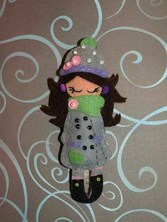 Broche de fieltro. Felt.