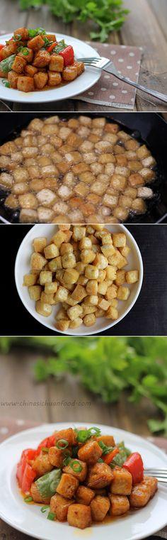 Kung Pao tofu #vegan