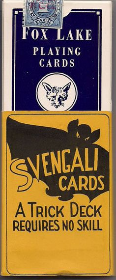 The classic Svengali deck wrapper without the Haines' House of Cards logo.