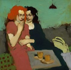 Milt Kobayashi, The Joke, oil on canvas.