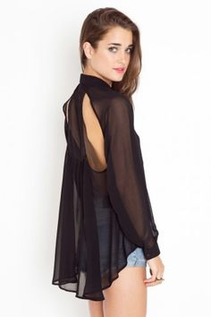 Cutout Tail Blouse - NASTY GAL - StyleSays